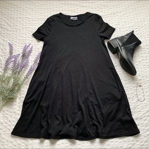 Urban Outfitters Black Ribbed Mini Dress (NWOT)